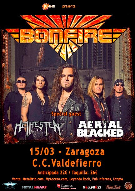 Bonfire regresan en concierto a Zaragoza