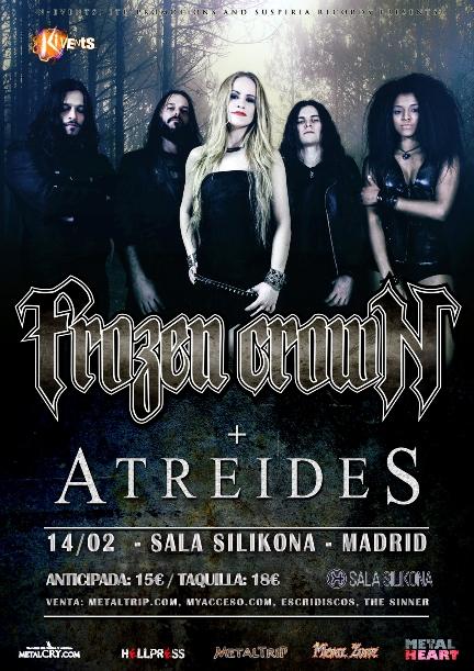 Frozen Crown en Madrid  el 14 de febrero – horarios