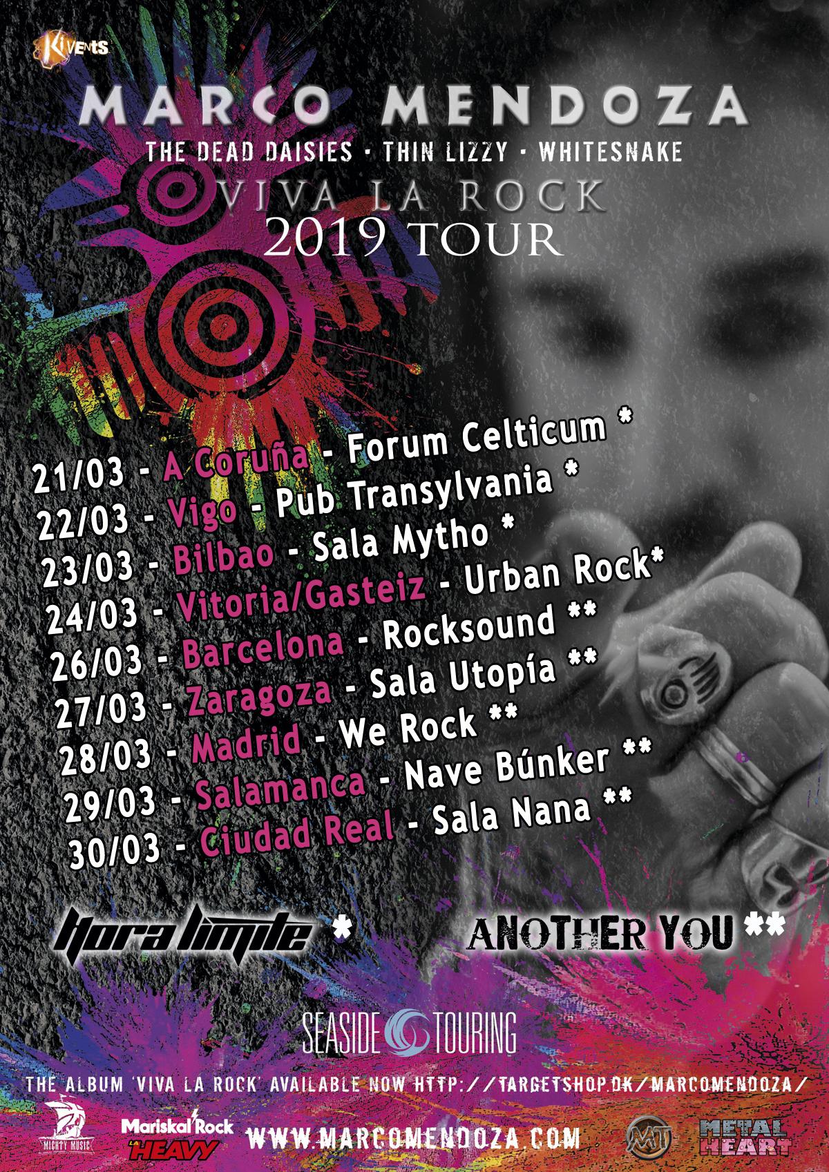 Comienza la gira de Marco Mendoza