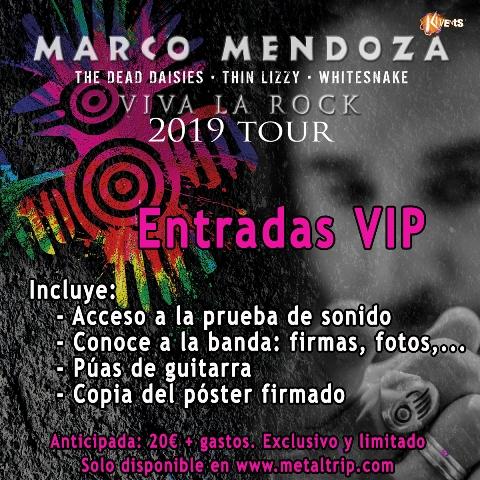 Marco Mendoza, acceso VIP al Meet And Greet