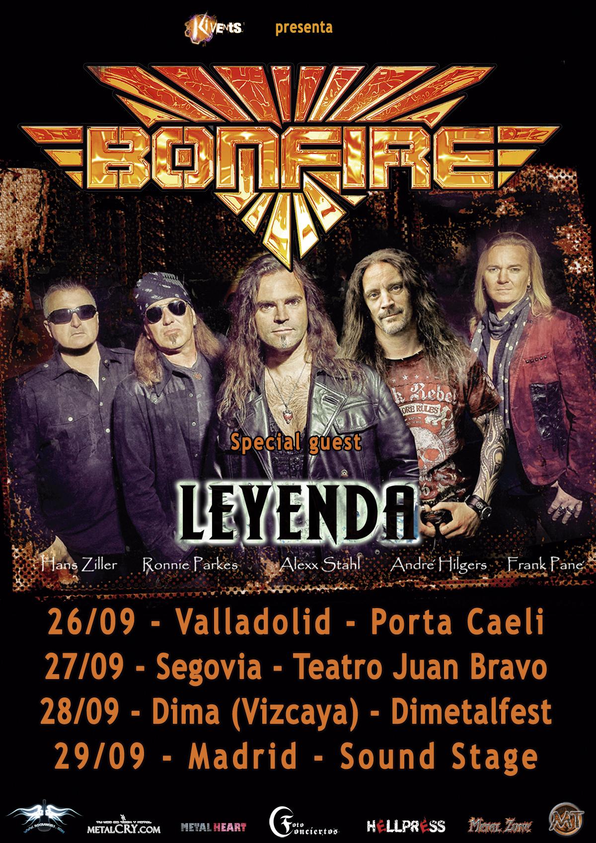 Bonfire vuelven de gira para presentar su nuevo album