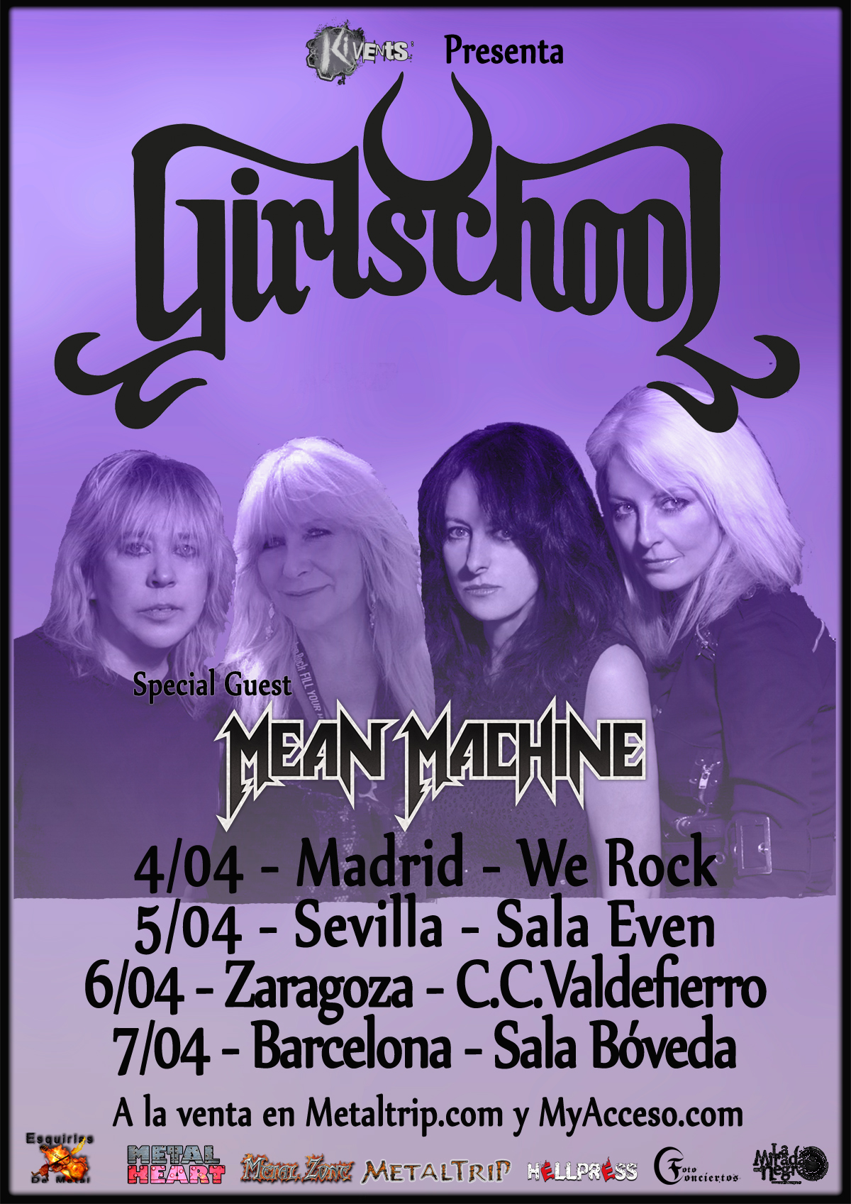 Este jueves comienza  la gira de Girlschools