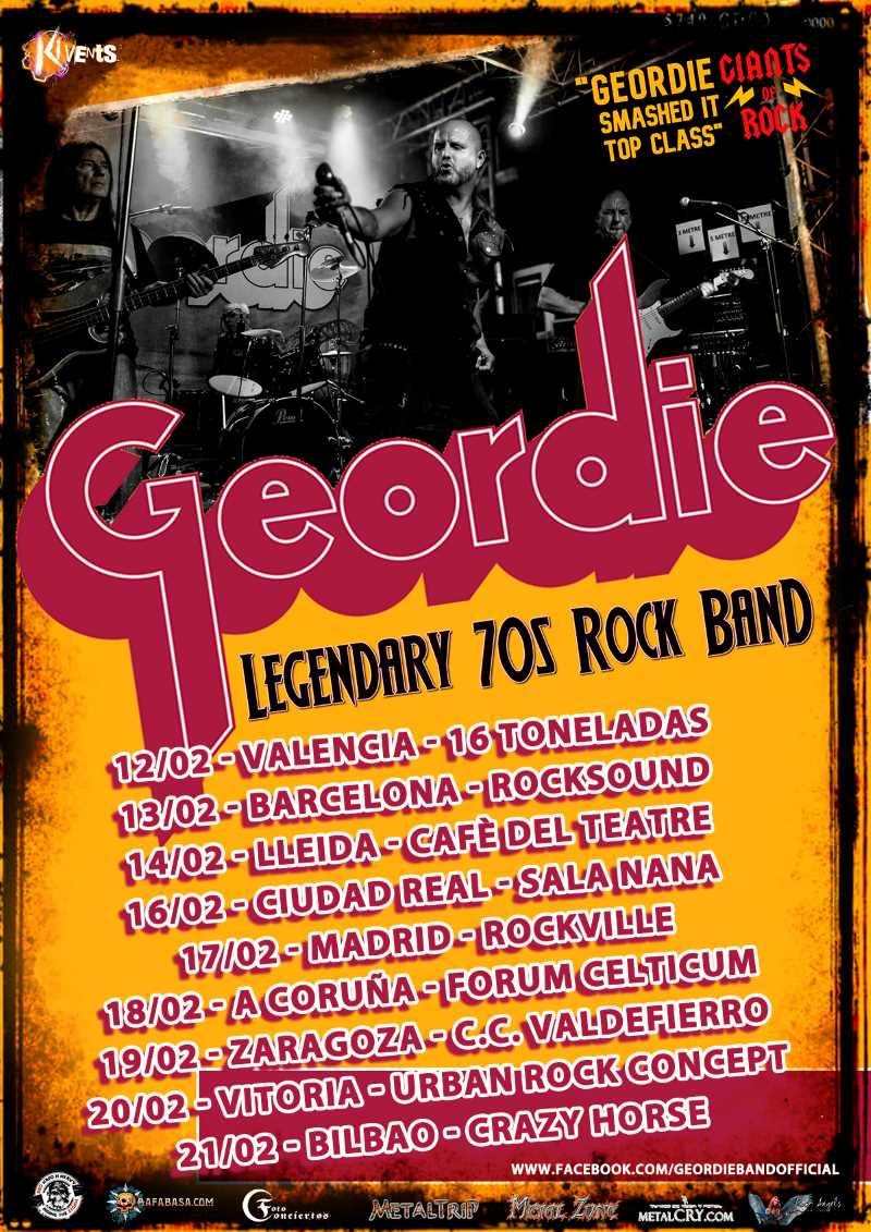 Geordie, gira en febrero de 2021