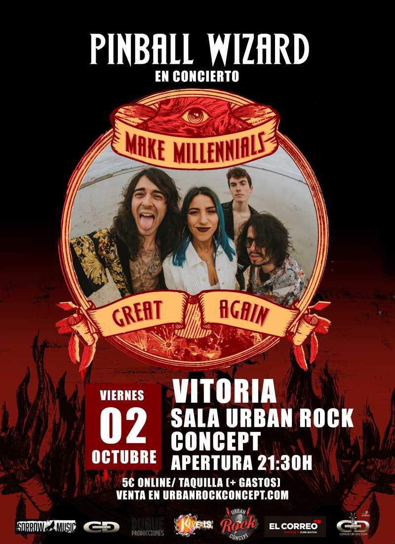 "Pinball Wizard presenta en Vitoria ""Make Millennials Great Again"""