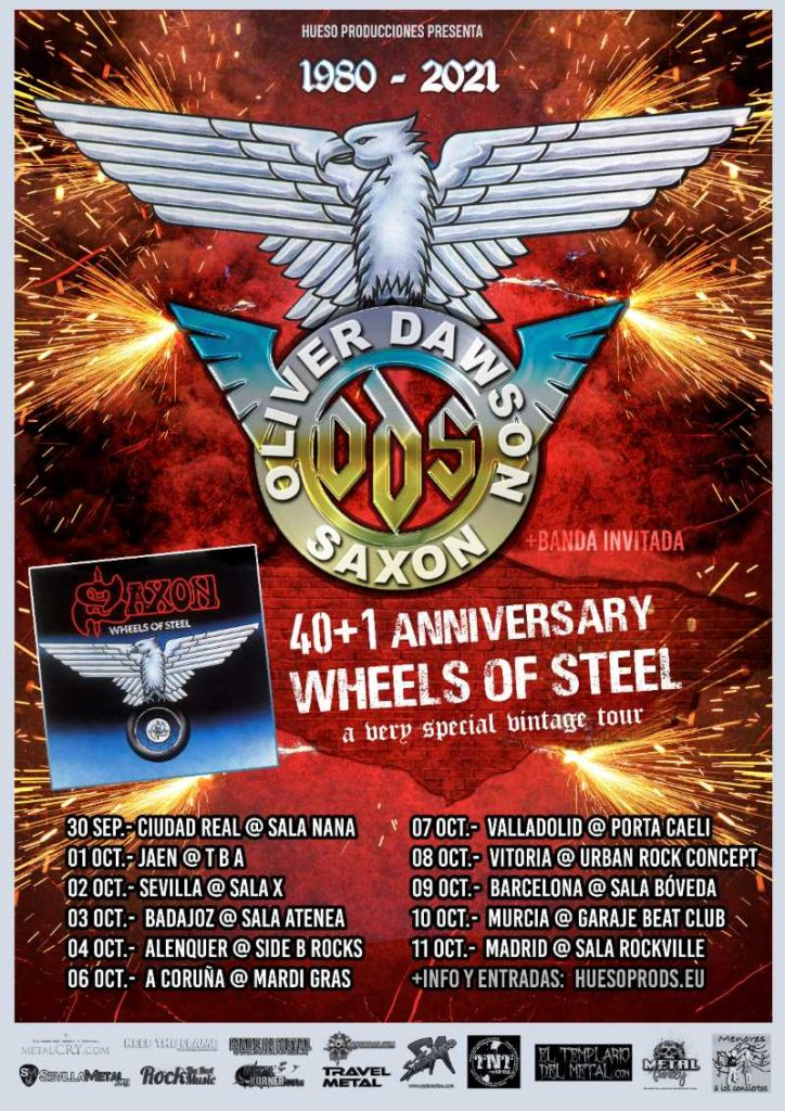 "Oliver/Dawson Saxon - ""40+1 Anniversary Wheels Of Steel Tour"""