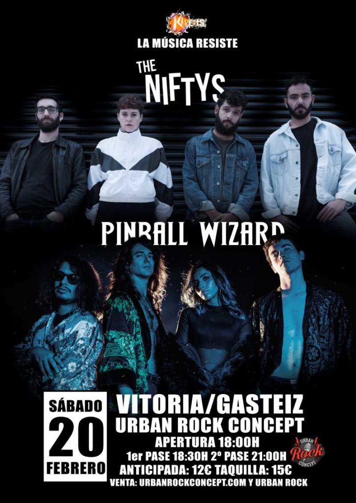 The Niftys & Pinball Wizard en Vitoria
