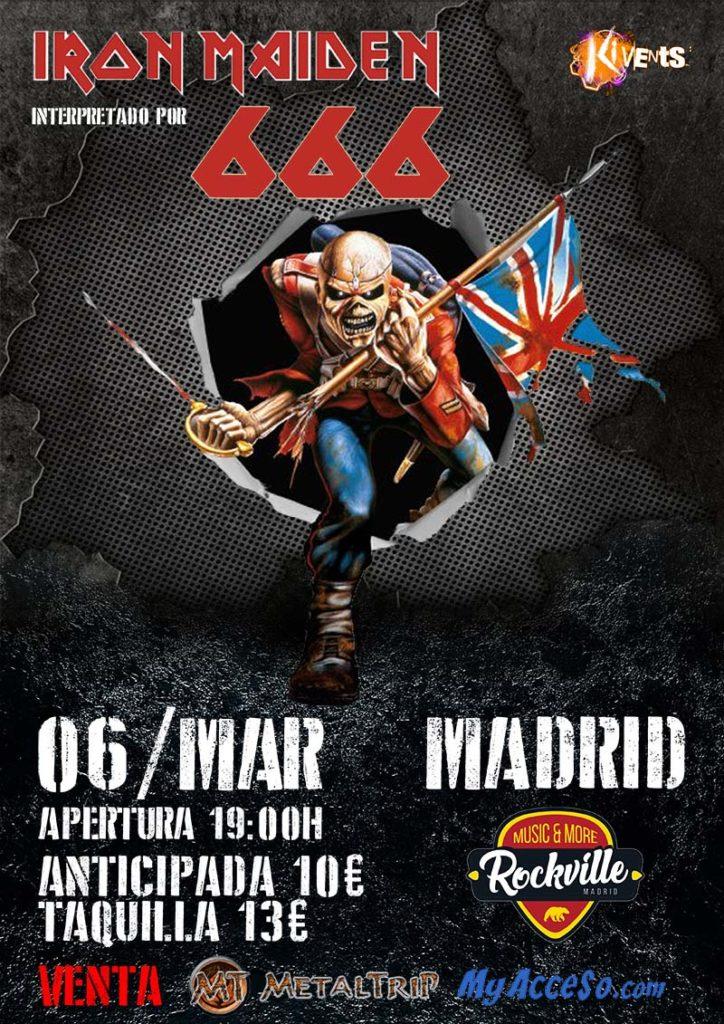 666 Iron Maiden en Sala Rockville (Madrid)