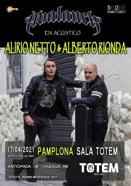 Alberto Rionda y Alirio Netto en Pamplona