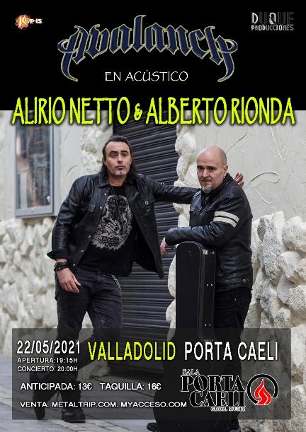 Alberto Rionda y Alirio Netto en Valladolid