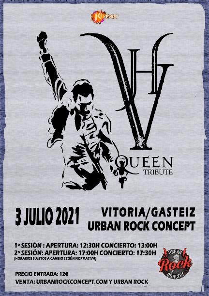 Concierto de VH Queen Tribute en Vitoria el sábado 3 de julio