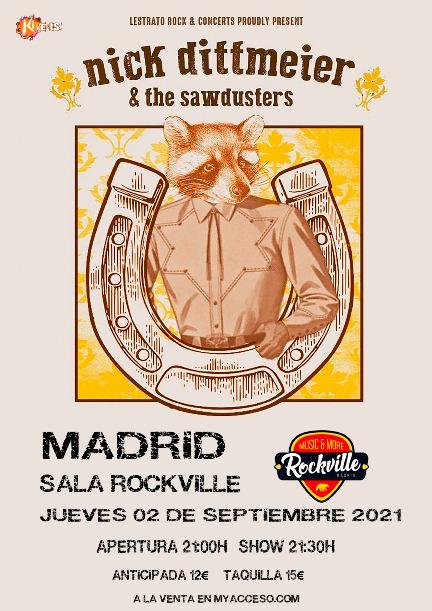 Nick Dittmeier & The Sawdusters en Sala Rockville