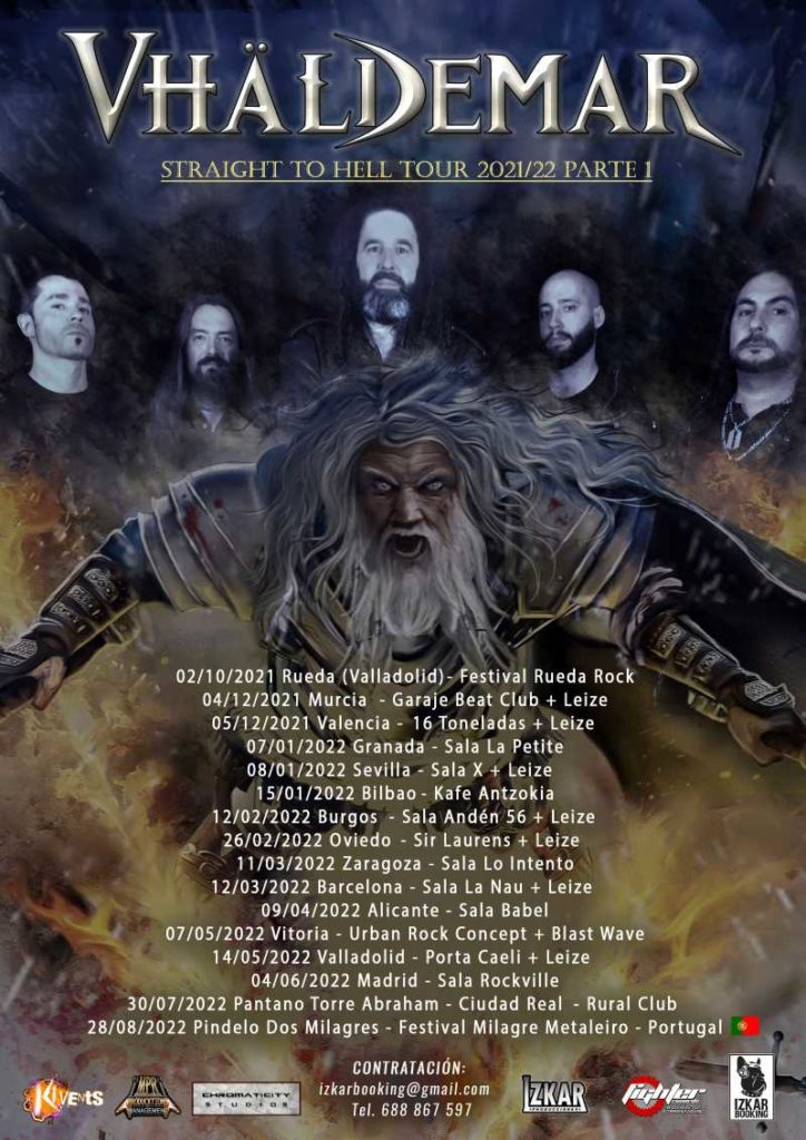 "Vhaldemar - ""Straight To Hell Tour 2021-2022"""